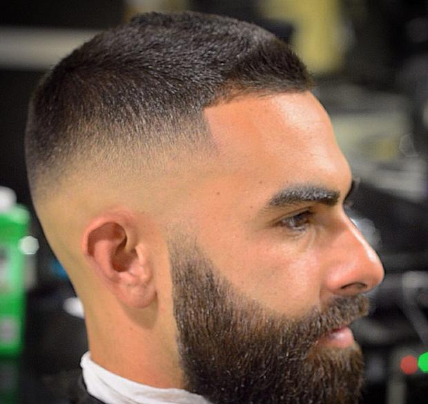 Corte de cabello para hombres militares