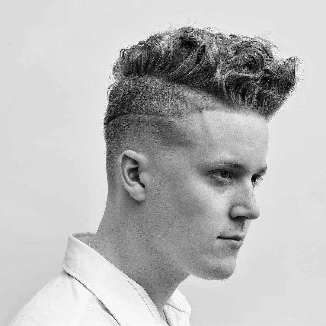 Peinados para hombres con Cabello Rizado Talkin Heads Barbera en