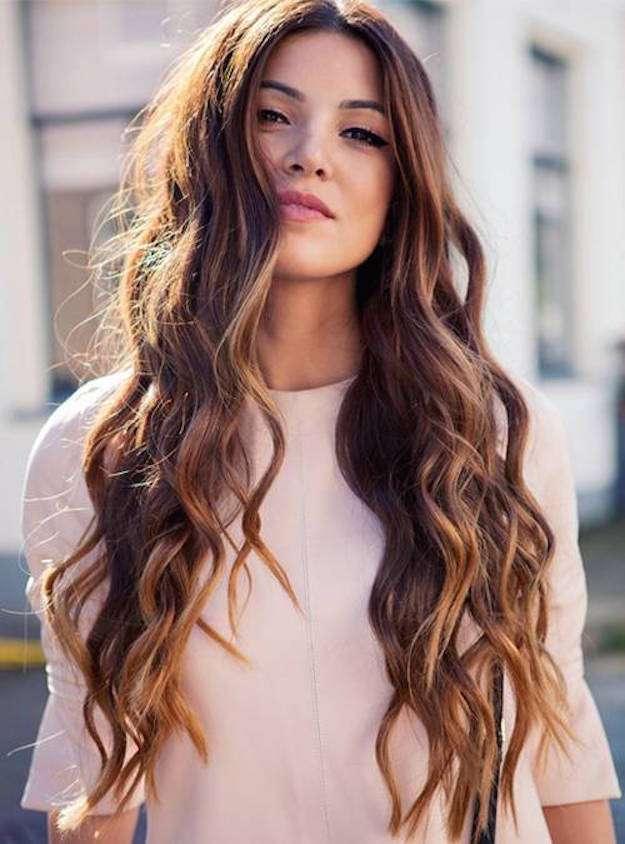 Corte recto cabello largo